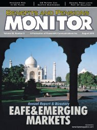 August - Benefits and Pensions Monitor