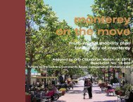 The Multi-Modal Mobility Plan - City of Monterey