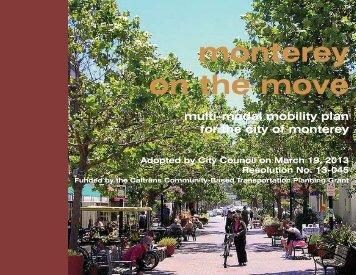 The Multi-Modal Mobility Plan - City of Monterey