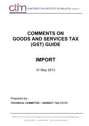 (gst) guide import - Chartered Tax Institute of Malaysia