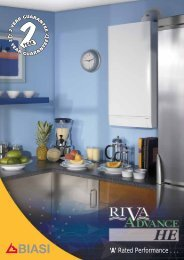 Biasi Riva Advance HE Boilers 24 & 32 Brochure - BHL.co.uk