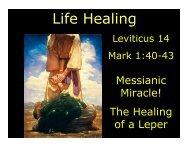 Life Healing - Congregation Yeshuat Yisrael