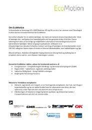 Om EcoMotion - Transportens Innovationsnetværk