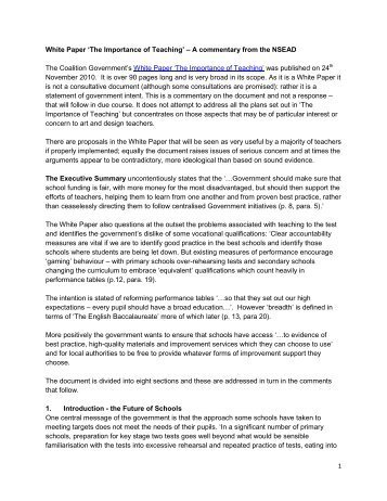 NSEAD Commentary - The National Society for Education in Art and ...