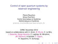 Control of open quantum systems by reservoir engineering - Centre ...