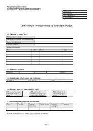 Opplysninger for registrering og stedsidentifikasjon