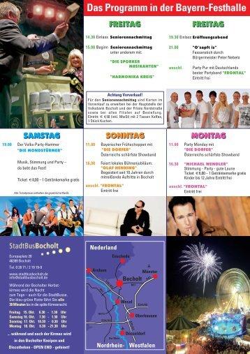 Das Programm in der Bayern-Festhalle - Bocholt