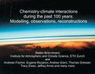 Chemistry-climate interactions during the past 100 years ... - QUEST