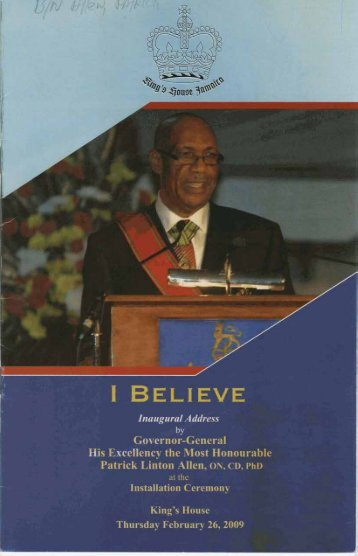 I Believe - The National Library of Jamaica