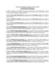 MINAS GERAIS/DIÁRIO DO LEGISLATIVO DE 3/2/2008 - Fundep