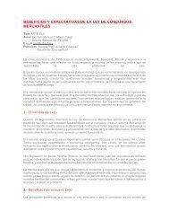 beneficios y expectativas de la ley de concursos mercantiles