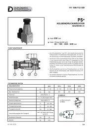 KOLBENDRUCKWÄCHTER 91 100/112 GD - Duplomatic