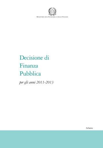 Decisione di Finanza Pubblica - Pubblicazioni Ufficiali dello Stato