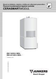 Návod na inštaláciu - Junkers