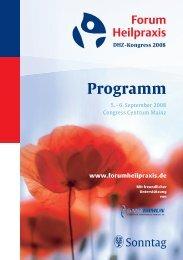Forum Heilpraxis Programm - MVS Medizinverlage Stuttgart