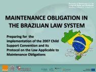 Maintenance Obligation in the Brazilian Law System: Preparing for ...