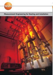 Measurement Engineering for Heating and Installation - Testo