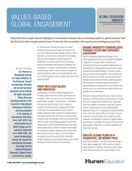 VALUES-BASED GLOBAL ENGAGEMENT - Huron Consulting Group