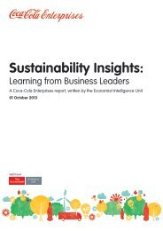 Sustainability Insights: - Coca-Cola Enterprises
