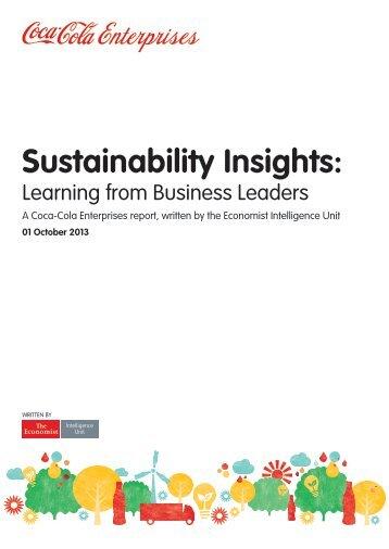 Sustainability Insights: - Coca-Cola Enterprises