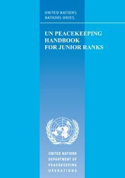 United Nations Peacekeeping Handbook for Junior ... - Saint-claire.org