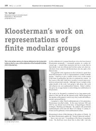 Kloosterman's work on representations of finite modular groups