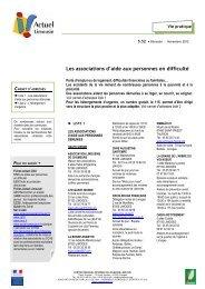 Les associations d'aide aux personnes en difficulté - (CRIJ) Limousin