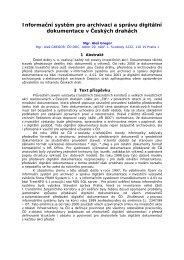 Informační systém pro archivaci a správu digitální ... - Railvolution