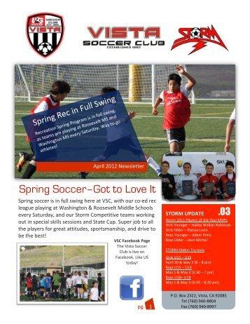 April 2012 - Vista Soccer Club