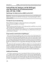 Auskunft über Vorliegen/Wirkungen einer ES-Massnahme - Kokes