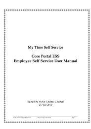 Core Portal ESS Employee Self Service User Manual - Mayo County ...