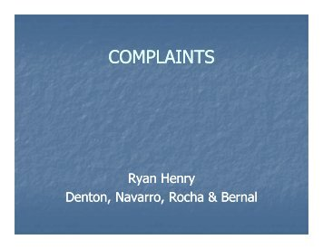 Henry COMPLAINTS [Compatibility Mode].pdf - Texas Municipal ...