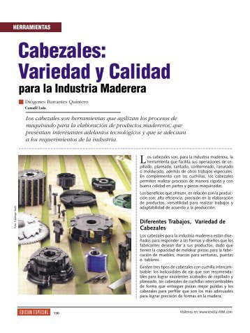 Herramientas Cabezales - Revista El Mueble y La Madera