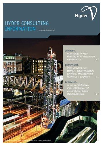 Hyder Consulting Information Ausgabe 08 | Oktober 2011