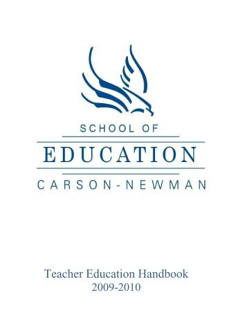 Teacher Education Handbook - Carson-Newman College