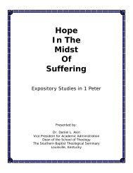 Hope In The Midst of Suffering - Daniel Akin