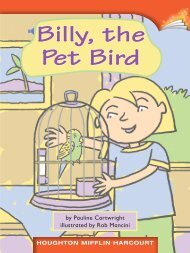 Lesson 1:Billy, the Pet Bird