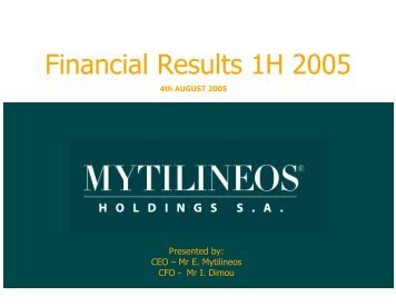 6M 2005 Financial Results Presentation