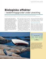 Biologiska effekter - Havet.nu