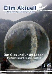 Das Glas und unser Leben - - Diakonische Stadtarbeit Elim