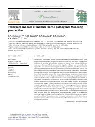 Transport and fate of manure-borne pathogens - National ...