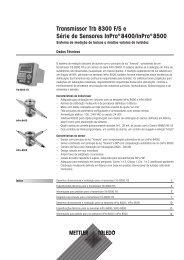 Transmissor Trb 8300 F/S e Série de Sensores InPro® 8400/InPro ...