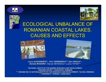 Ecological imbalance of Romanian costal lakes: Causes ... - NEESPI