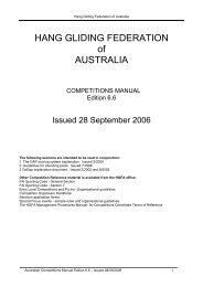 HANG GLIDING FEDERATION of AUSTRALIA
