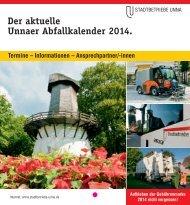 Abfallkalender 2014 als PDF-Broschüre herunterladen