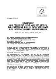 GRUSSWORT des Präsidenten van der Linden ... - Kolping Europa