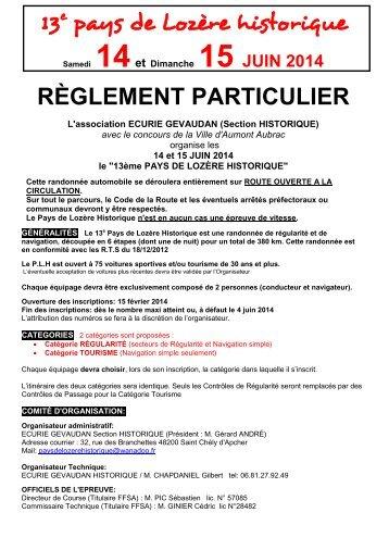 Règlement 2013 - 3A66 - Free