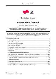 Masterstudium Telematik - mibla.TUGraz.at