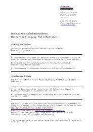 Infoblatt zum Aufnahmeverfahren - Fachhochschule Salzburg