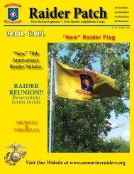 RAIDER REUNION!! MAIL CALL - U.S. Marine Raider Association